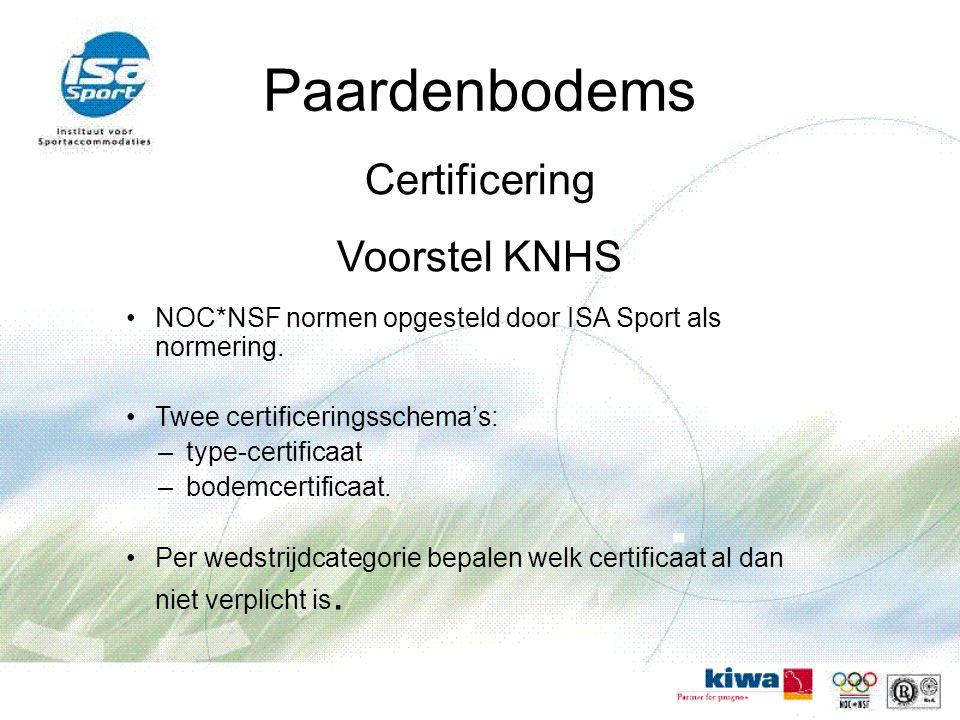 Paardenbodems Certificering Voorstel KNHS