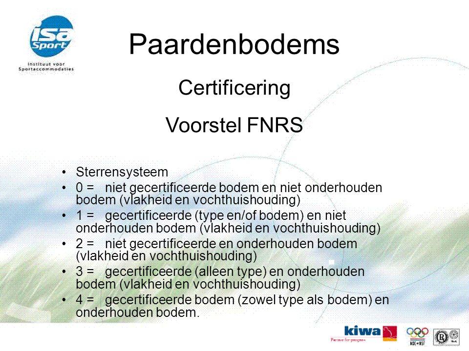 Paardenbodems Certificering Voorstel FNRS Sterrensysteem