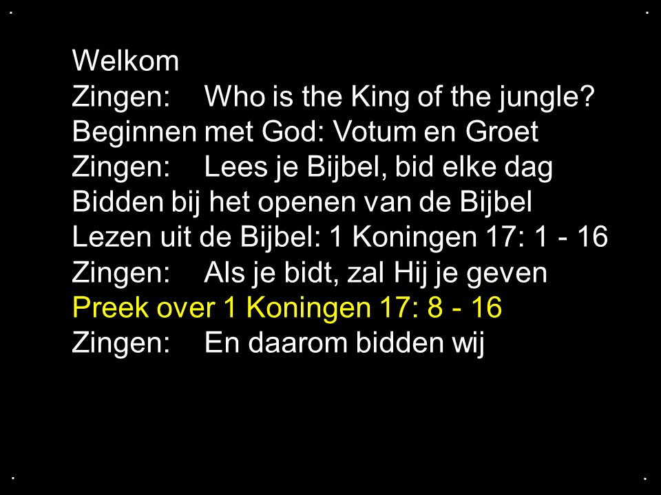 Zingen: Who is the King of the jungle