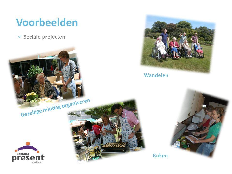 Voorbeelden Sociale projecten Wandelen Gezellige middag organiseren