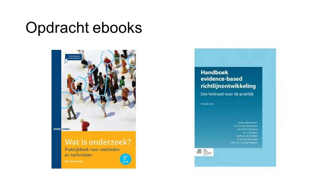 Opdracht ebooks