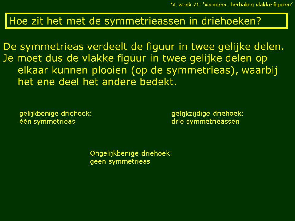 Hoe zit het met de symmetrieassen in driehoeken