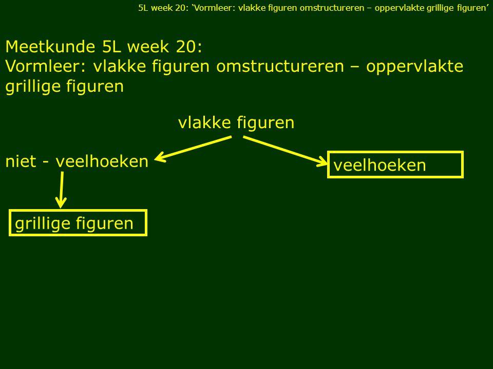 Vormleer: vlakke figuren omstructureren – oppervlakte grillige figuren