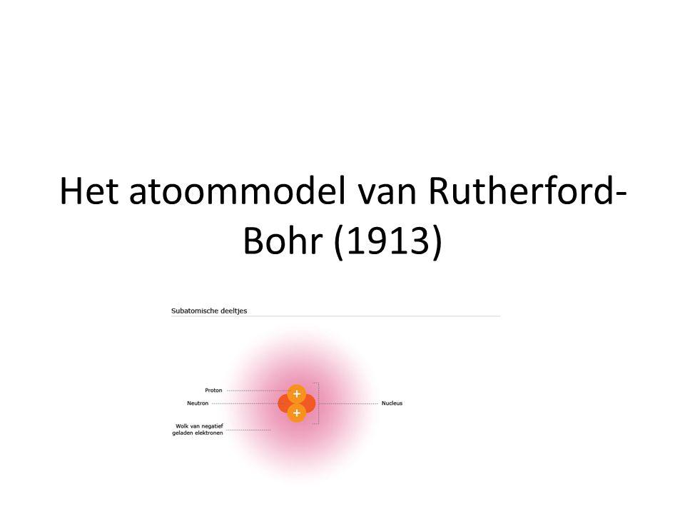 Het atoommodel van Rutherford-Bohr (1913)