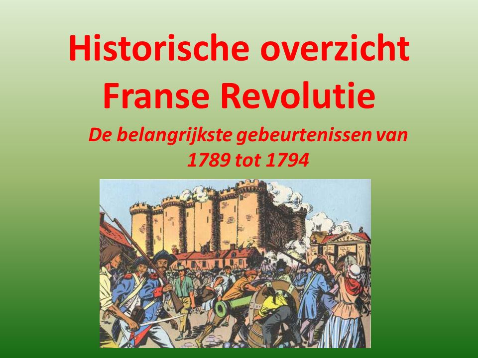 Historische overzicht Franse Revolutie