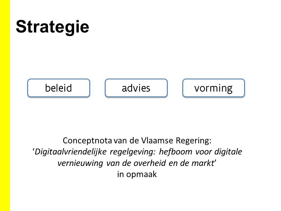 Conceptnota van de Vlaamse Regering: