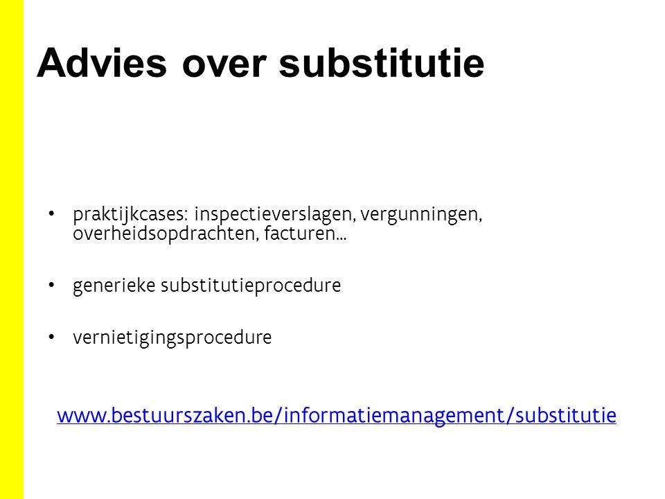 Advies over substitutie