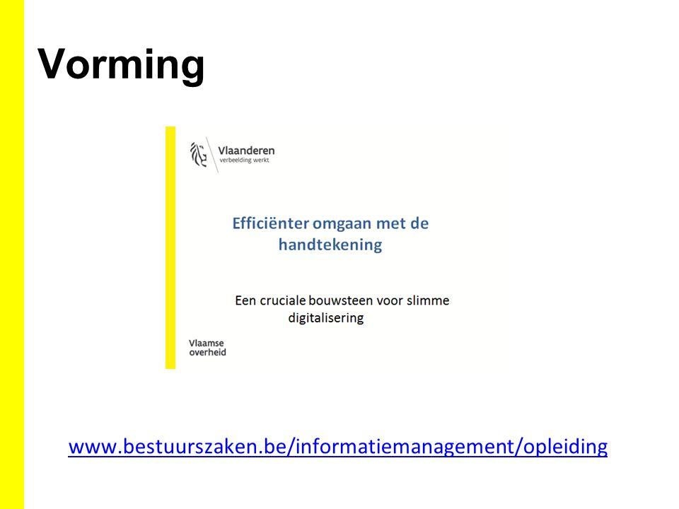 Vorming www.bestuurszaken.be/informatiemanagement/opleiding