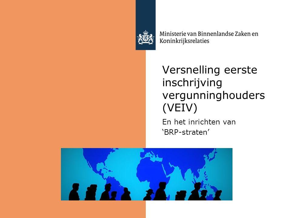 Versnelling eerste inschrijving vergunninghouders (VEIV)