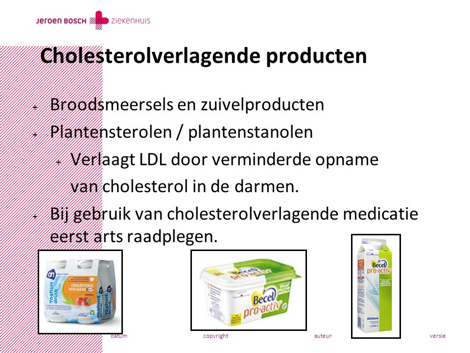 Cholesterolverlagende producten