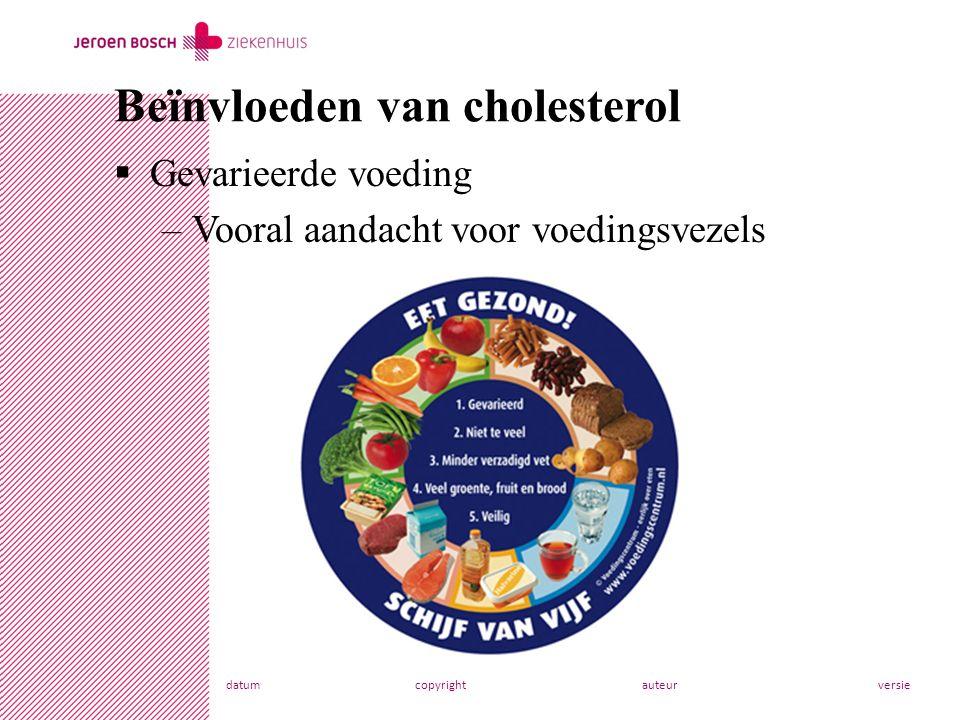 Beïnvloeden van cholesterol