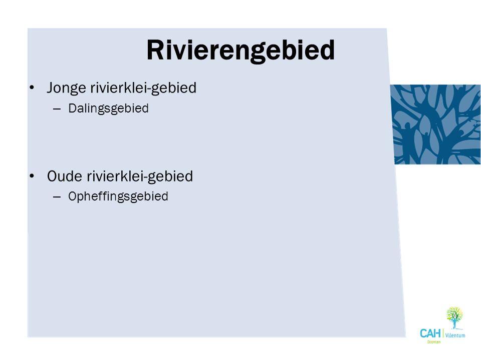Rivierengebied Jonge rivierklei-gebied Oude rivierklei-gebied
