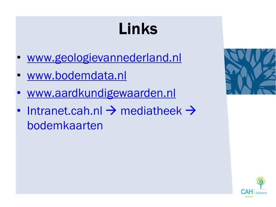 Links www.geologievannederland.nl www.bodemdata.nl