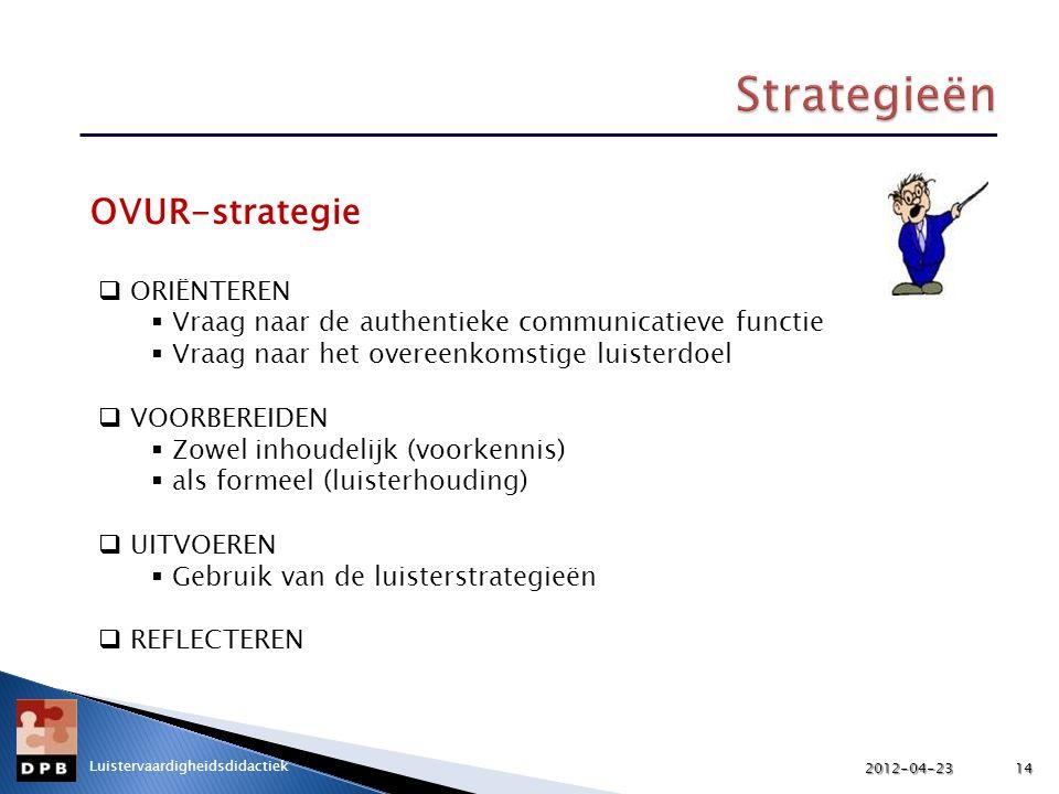 Strategieën OVUR-strategie ORIËNTEREN