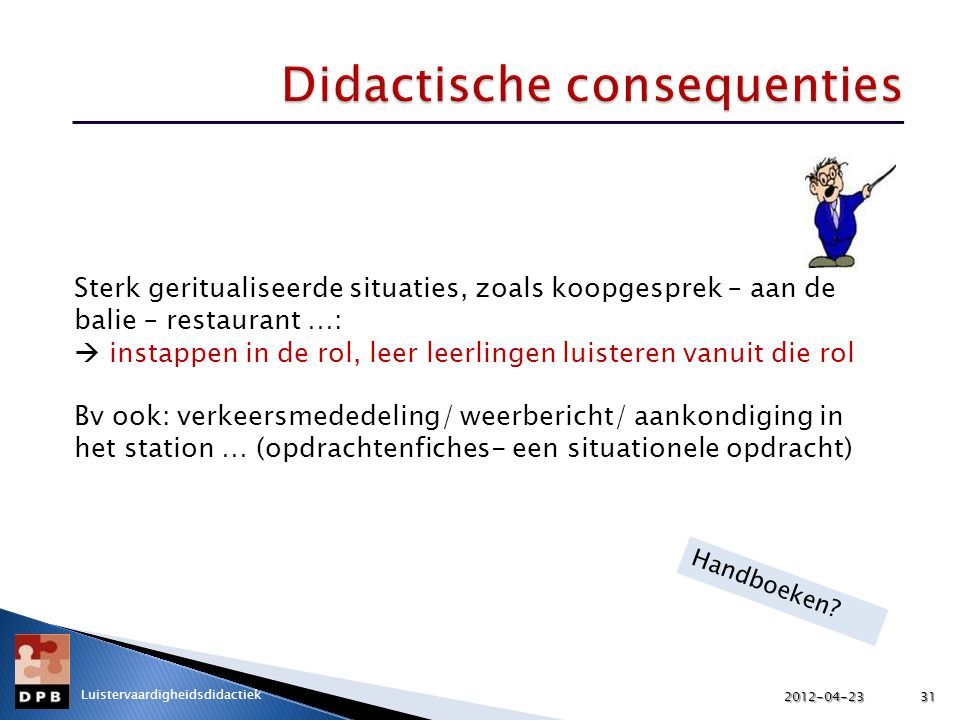 Didactische consequenties