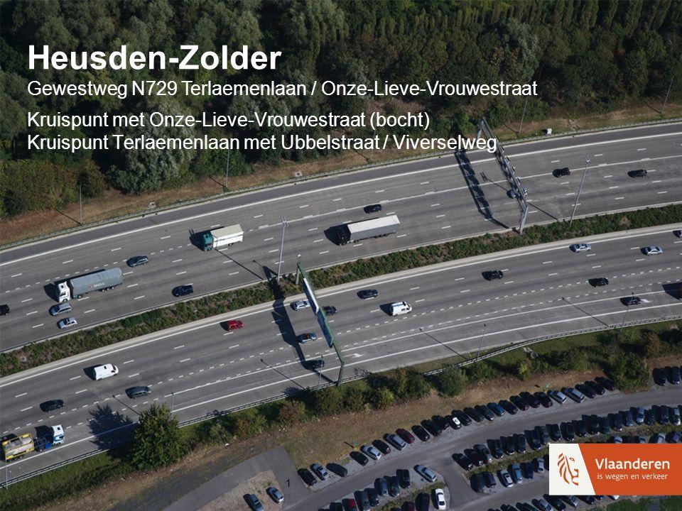 Heusden-Zolder Gewestweg N729 Terlaemenlaan / Onze-Lieve-Vrouwestraat