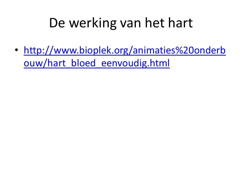 De werking van het hart http://www.bioplek.org/animaties%20onderbouw/hart_bloed_eenvoudig.html