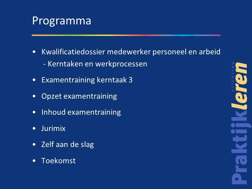 Programma Kwalificatiedossier medewerker personeel en arbeid