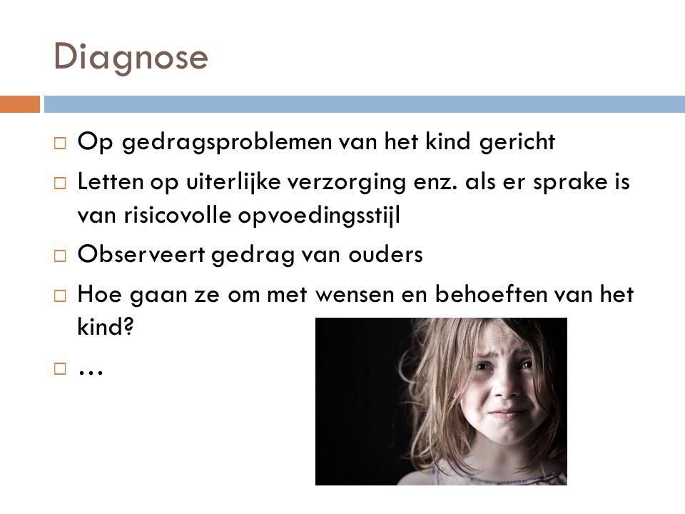 Diagnose Op gedragsproblemen van het kind gericht