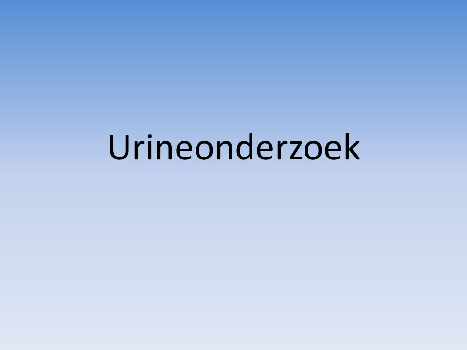 Urineonderzoek