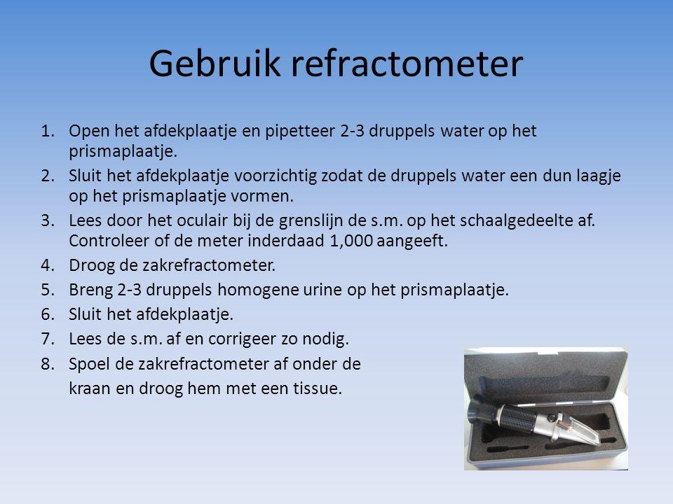 Gebruik refractometer
