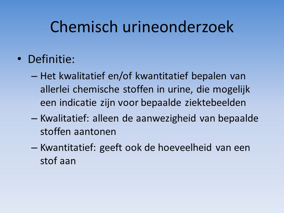 Chemisch urineonderzoek
