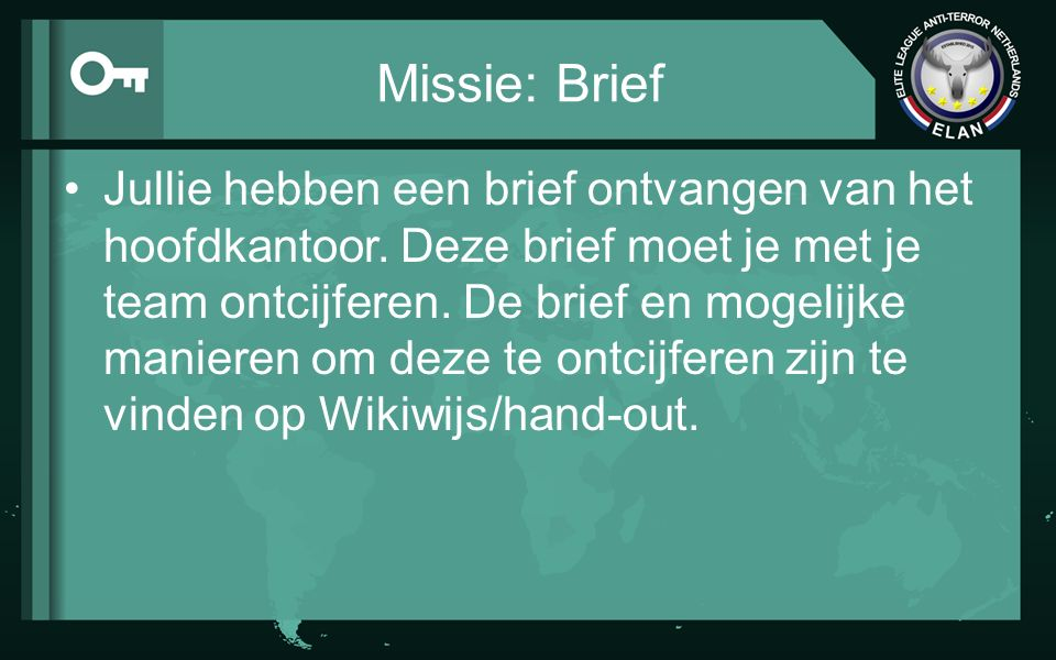 Missie: Brief