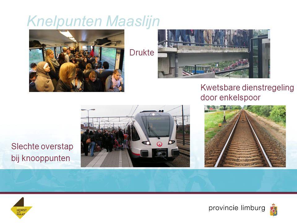 Knelpunten Maaslijn Drukte Kwetsbare dienstregeling door enkelspoor