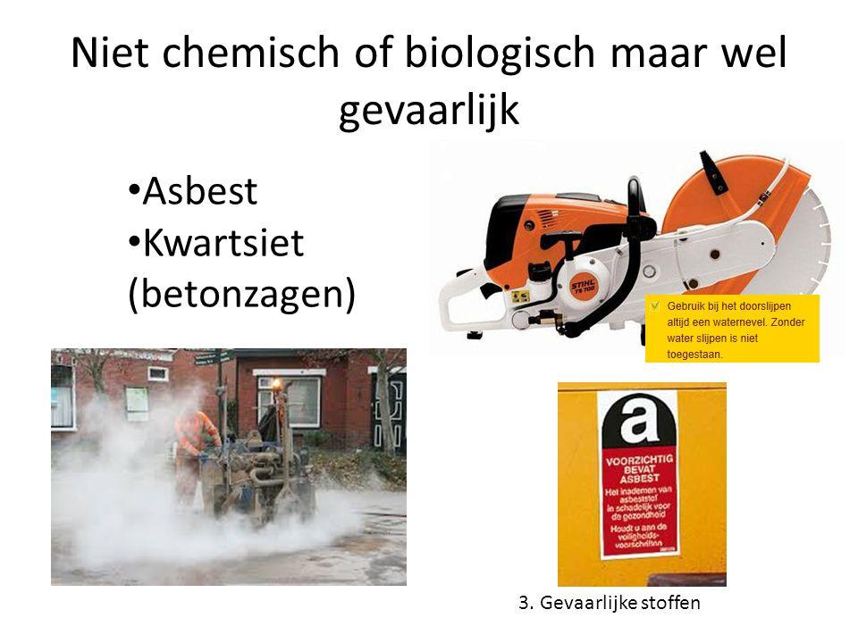 Niet chemisch of biologisch maar wel gevaarlijk