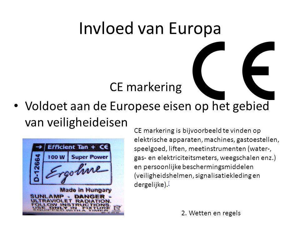 Invloed van Europa CE markering