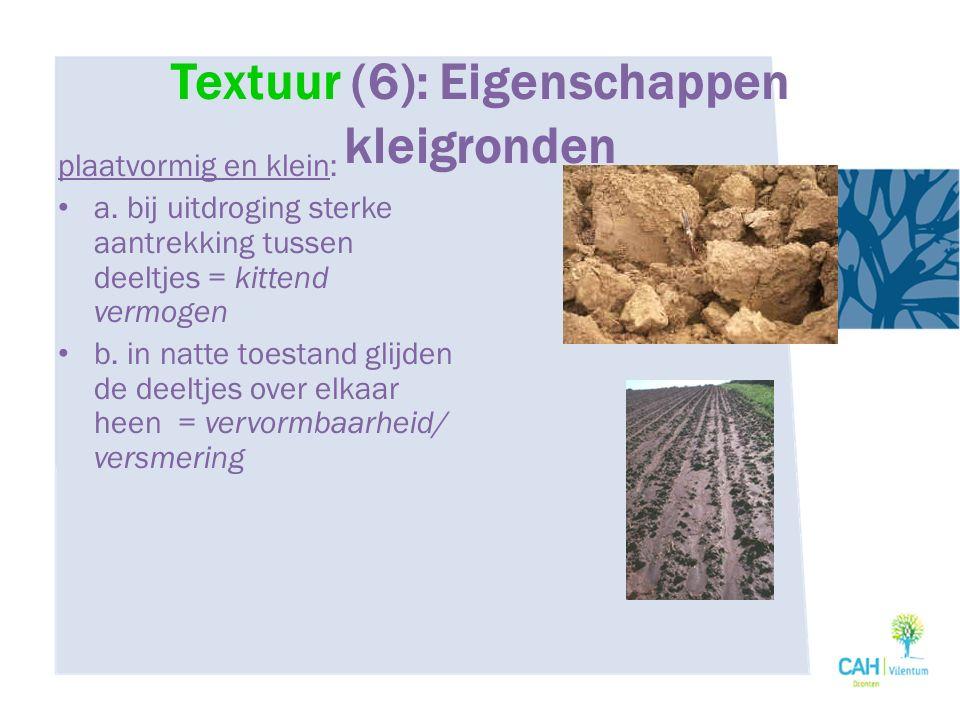 Textuur (6): Eigenschappen kleigronden