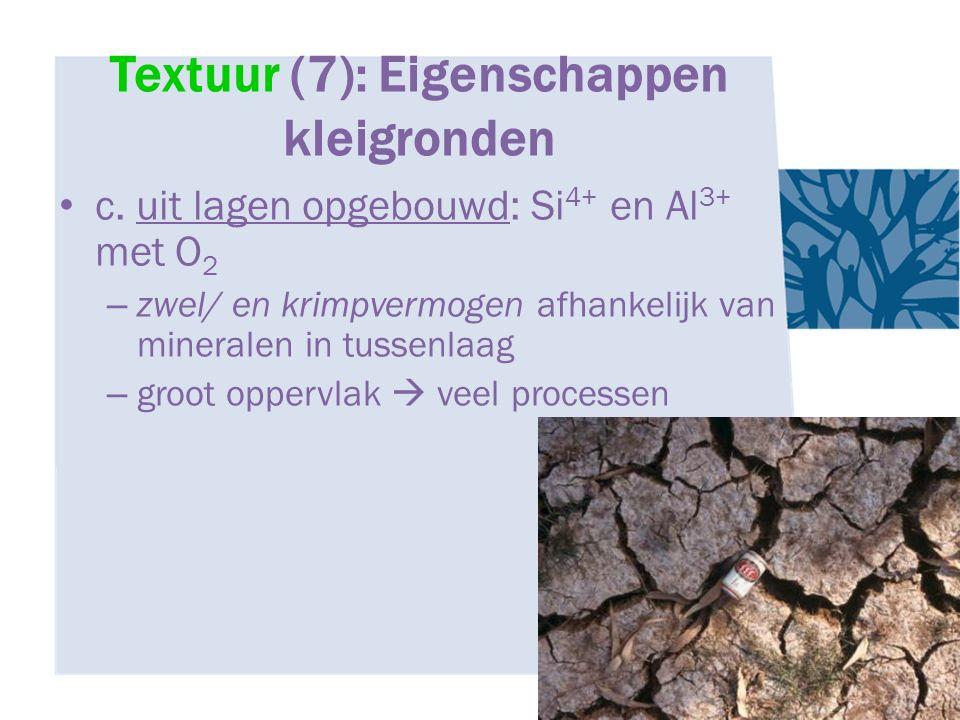 Textuur (7): Eigenschappen kleigronden