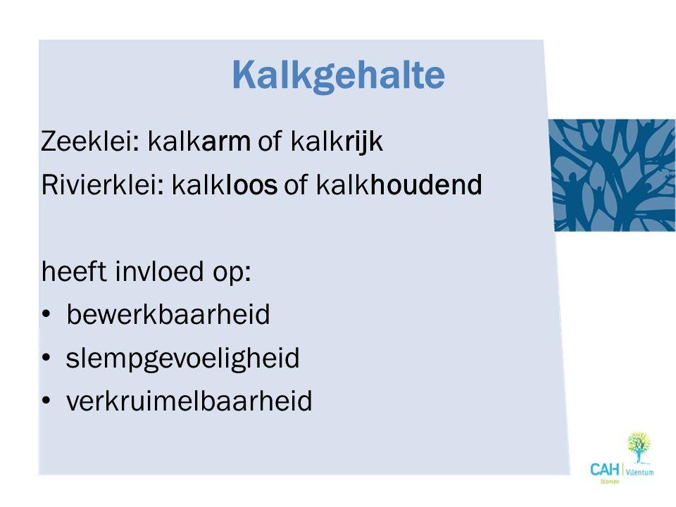 Kalkgehalte Zeeklei: kalkarm of kalkrijk