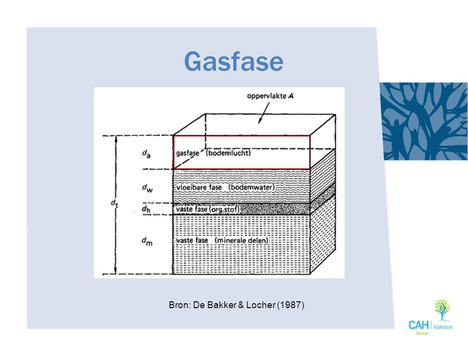 Gasfase Bron: De Bakker & Locher (1987)