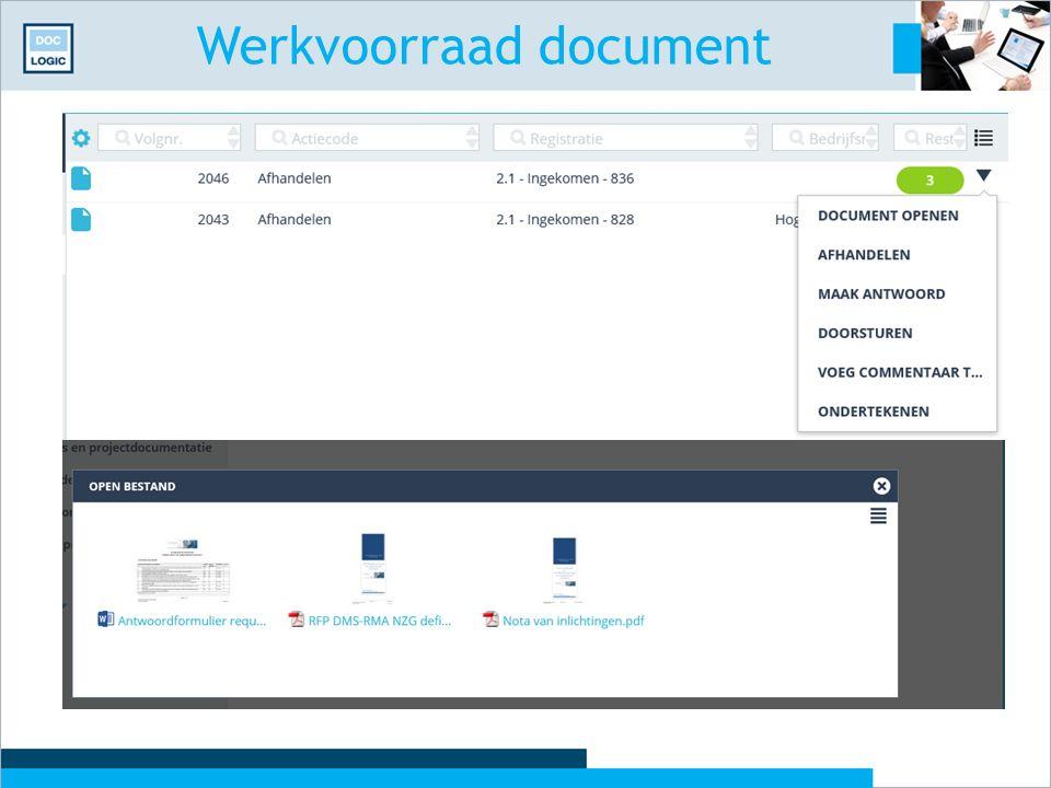 Werkvoorraad document