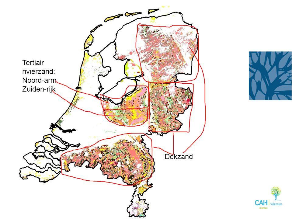 Tertiair rivierzand: Noord-arm Zuiden-rijk Dekzand