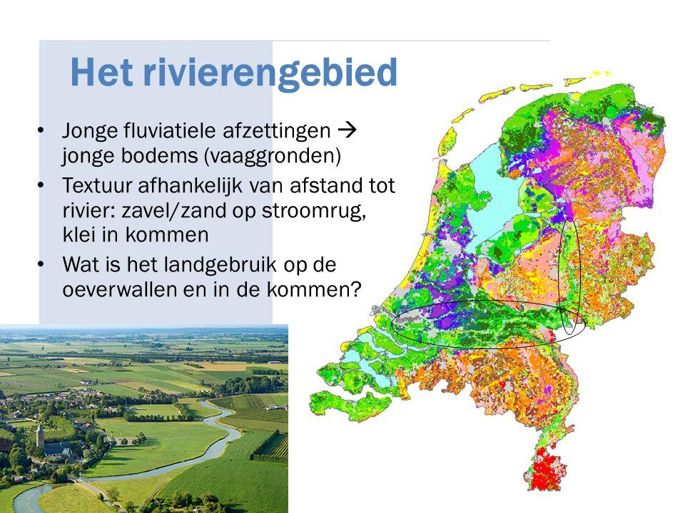 27/04/2017 Het rivierengebied. Jonge fluviatiele afzettingen  jonge bodems (vaaggronden)