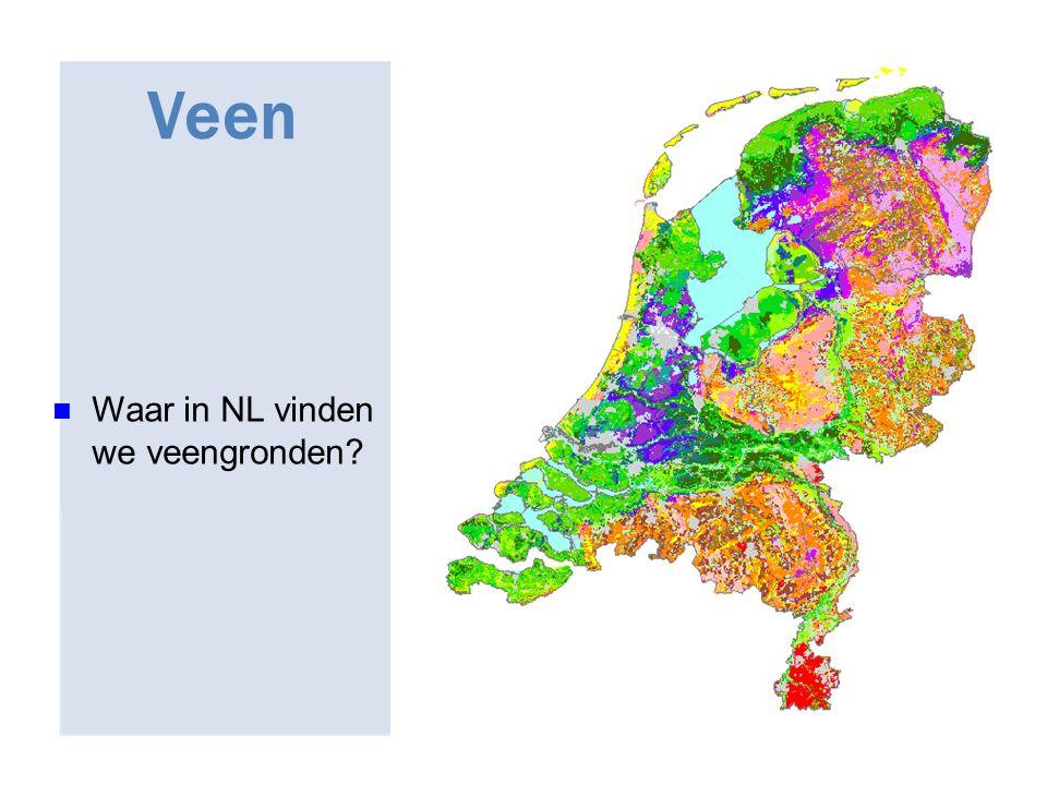 27/04/2017 Veen Waar in NL vinden we veengronden 42