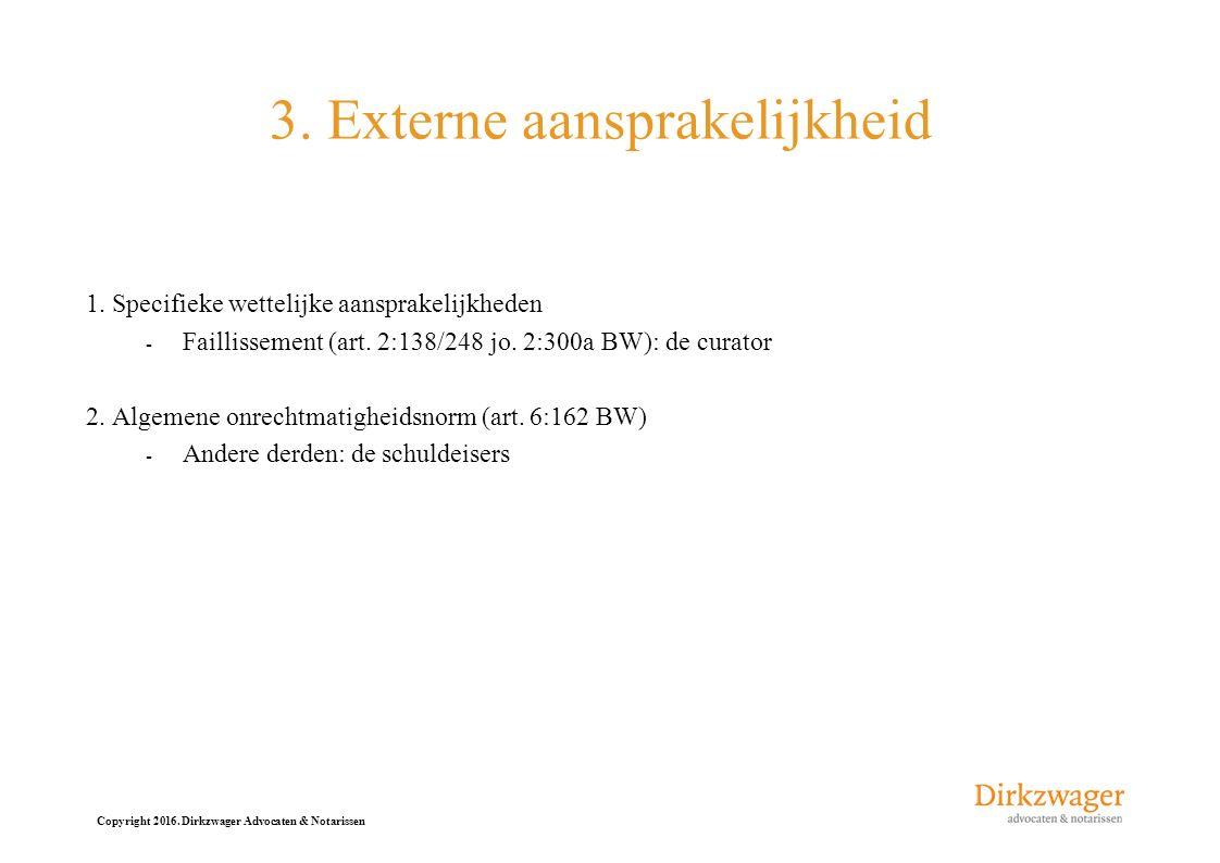 3. Externe aansprakelijkheid