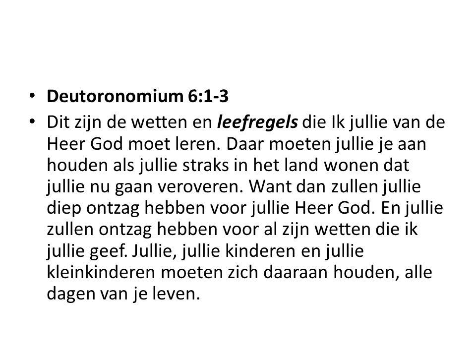 Deutoronomium 6:1-3