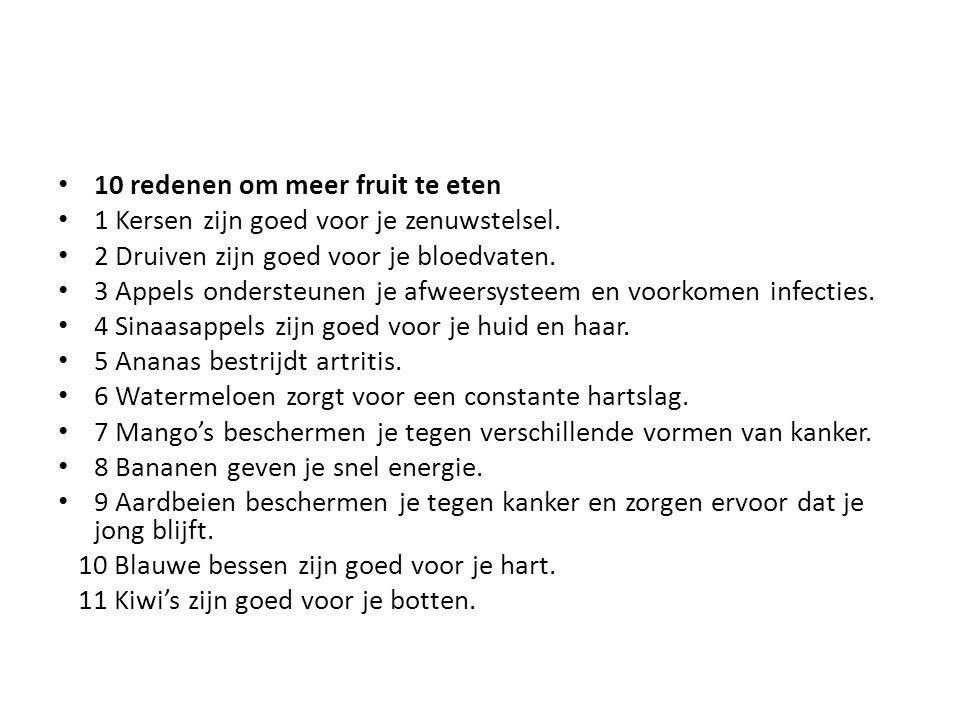 10 redenen om meer fruit te eten