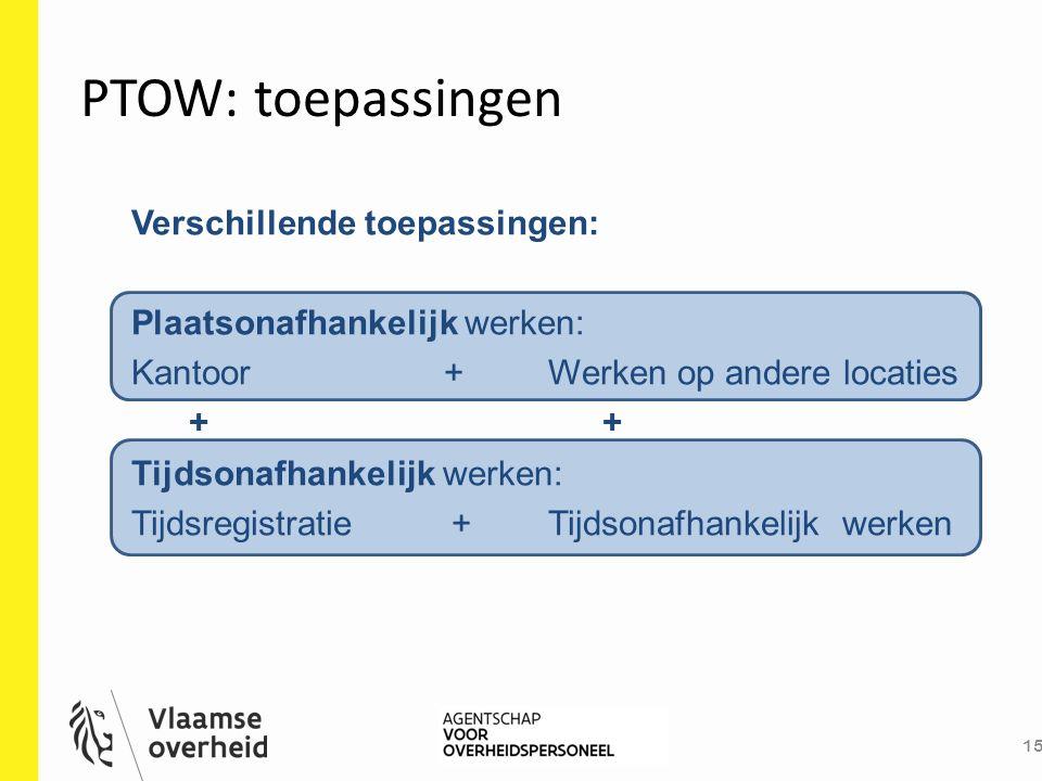 PTOW: toepassingen