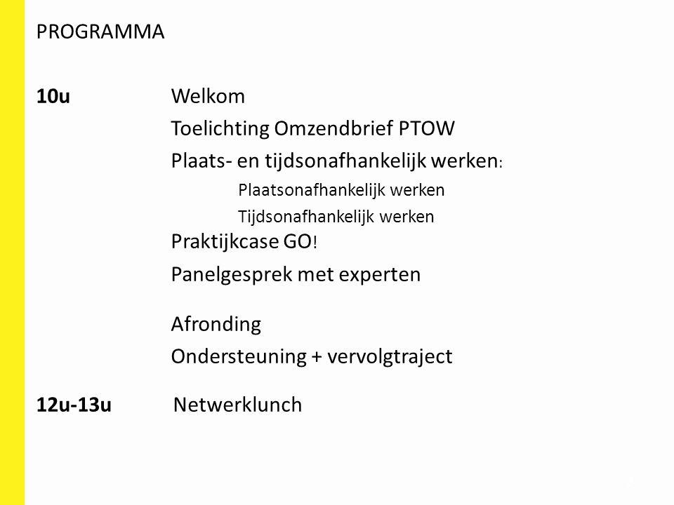 Toelichting Omzendbrief PTOW