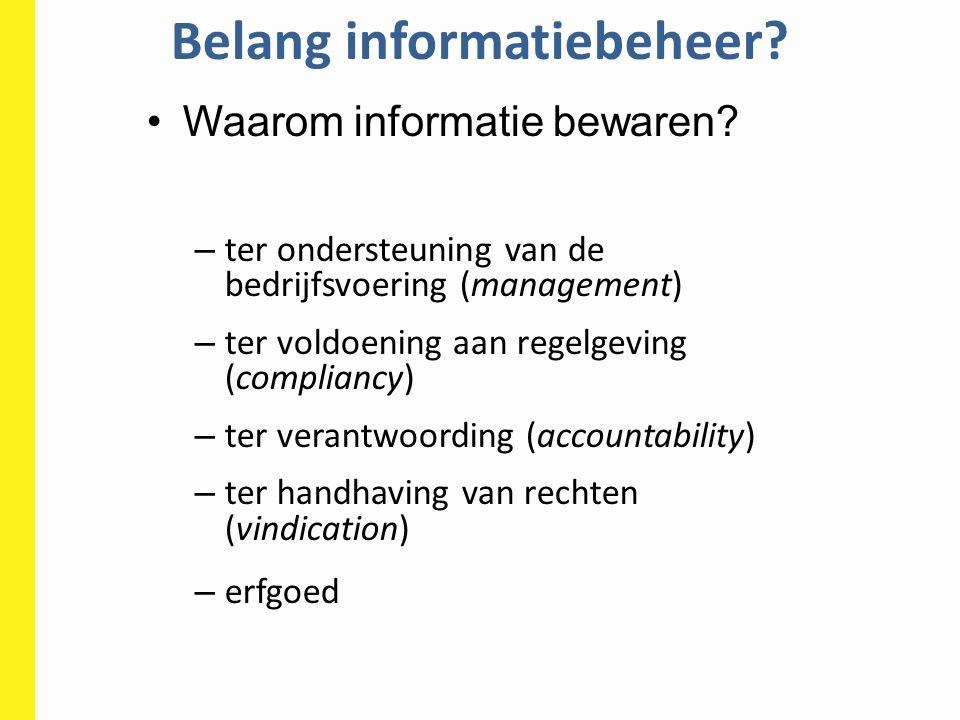 Belang informatiebeheer