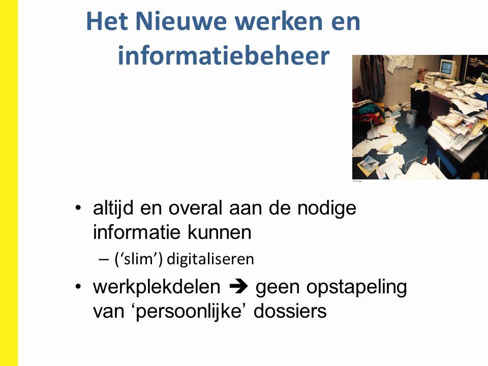 Het Nieuwe werken en informatiebeheer
