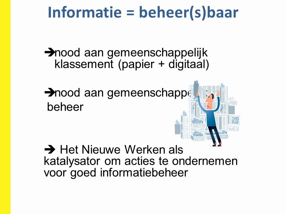 Informatie = beheer(s)baar