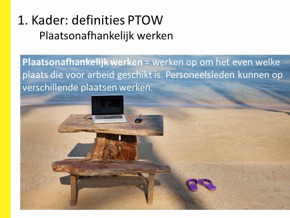 1. Kader: definities PTOW