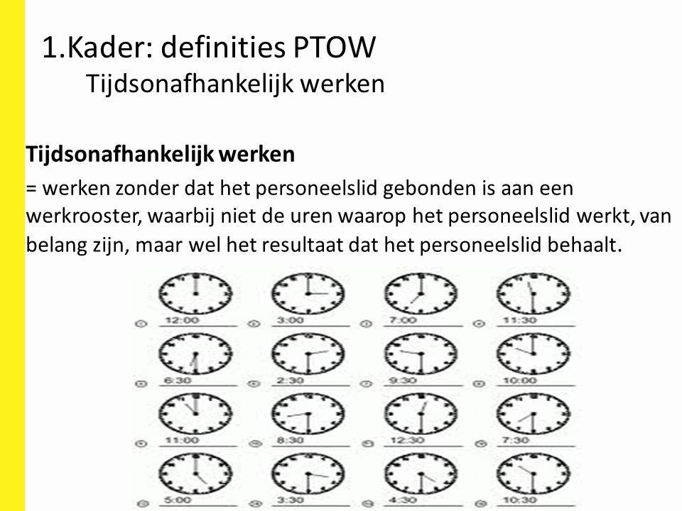 1.Kader: definities PTOW