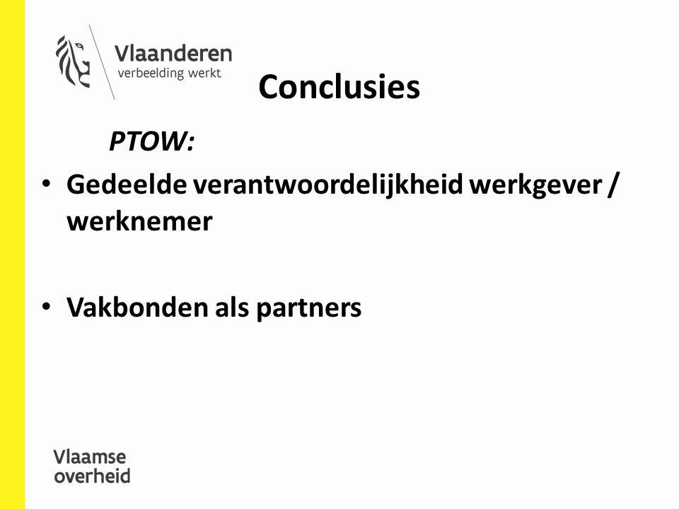 Conclusies PTOW: Gedeelde verantwoordelijkheid werkgever / werknemer
