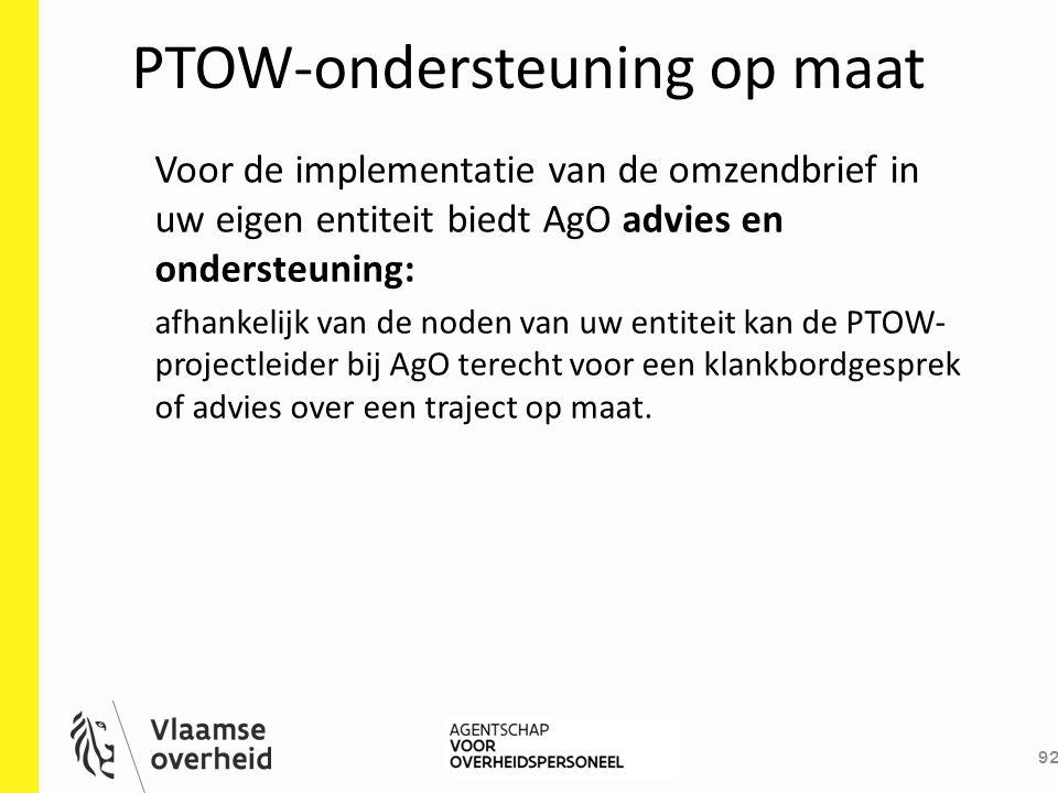 PTOW-ondersteuning op maat